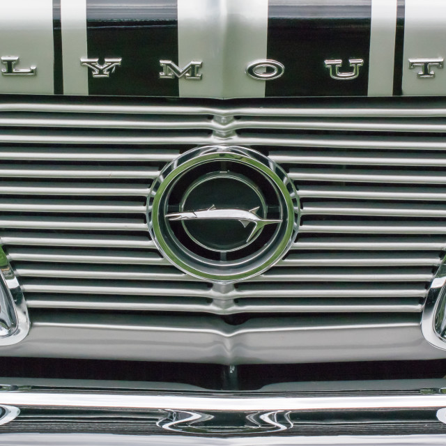 """""""1966 Plymouth Barracuda Grille"""" stock image"""