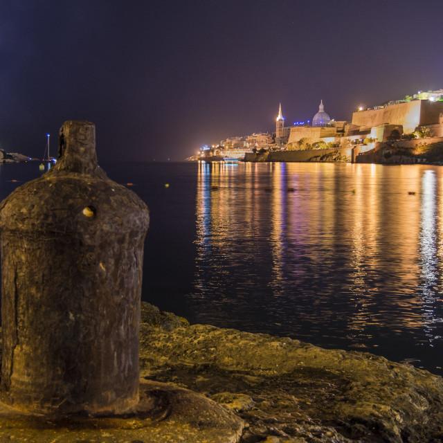 """""""Valletta at night"""" stock image"""
