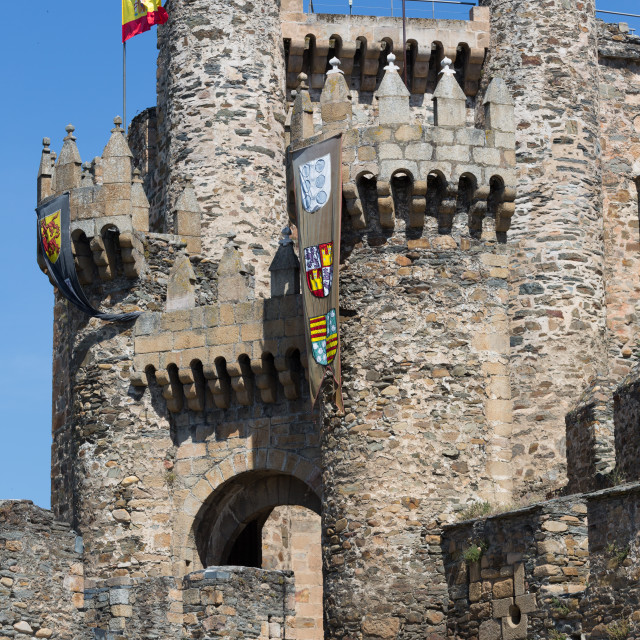 """""""Castle of the Templars"""" stock image"""