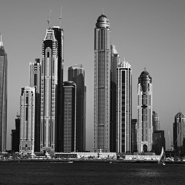 """Dubai Marina View"" stock image"