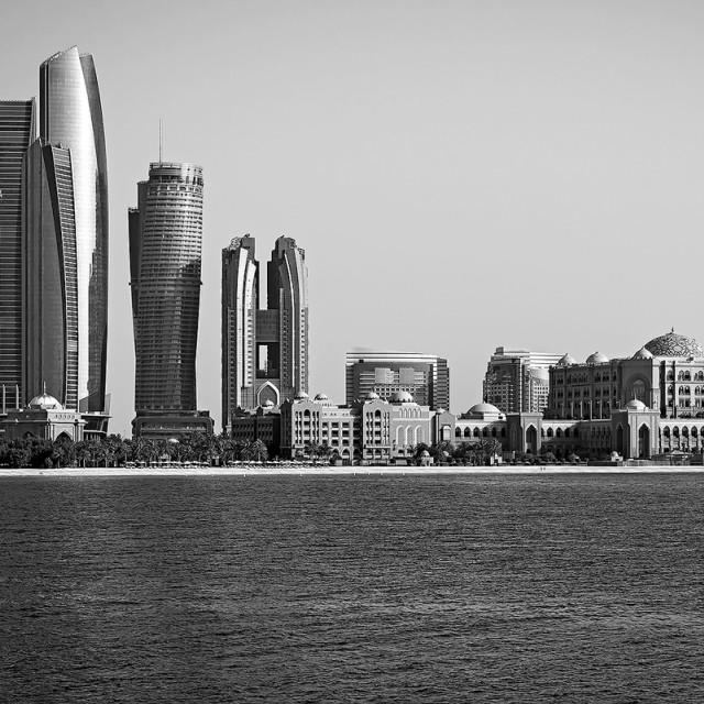 """Abu Dhabi Etihad Towers"" stock image"