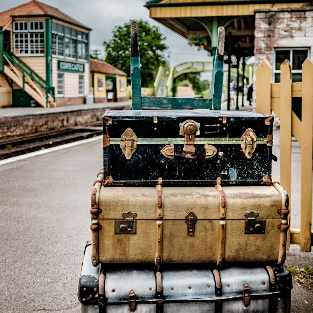 """Vintage Suitcases"" stock image"