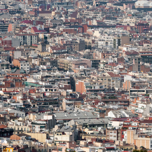 """Barcelona detail Aerial view"" stock image"