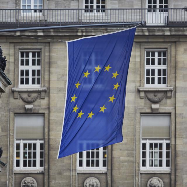 """European Flag in Hamburg"" stock image"