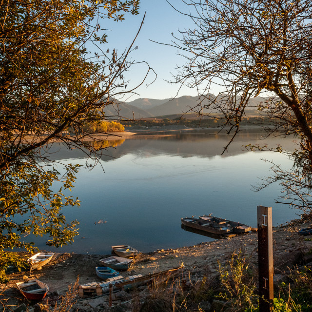 """Autumn on lake"" stock image"