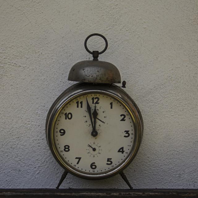 """old alarm clock"" stock image"