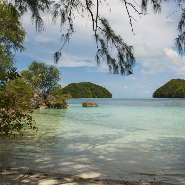 """View from Island Nr Palau, Pacific"" stock image"