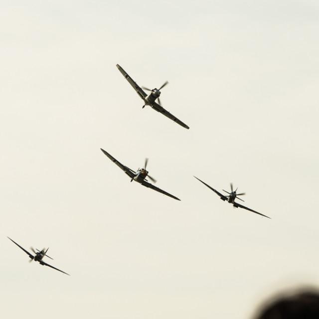 """Battle of Britain Air Display, 11 July 2015"" stock image"