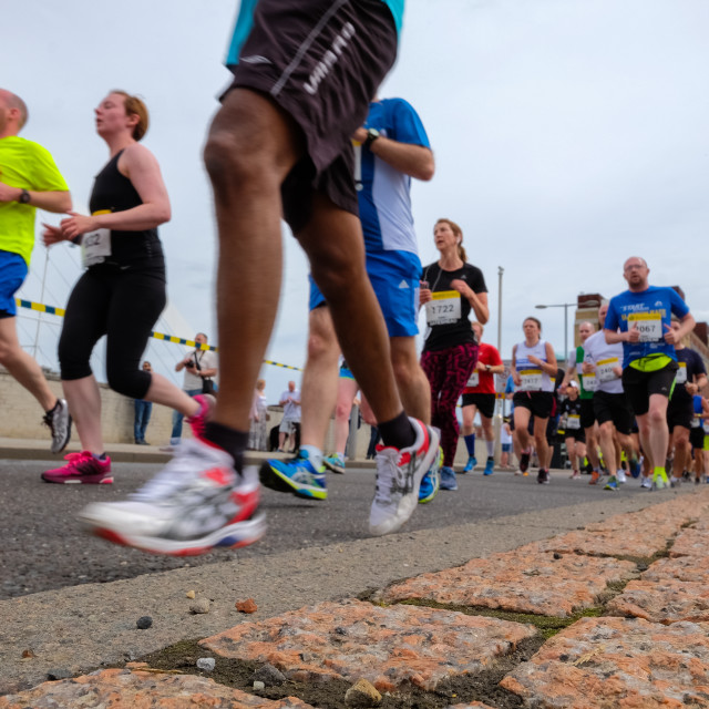 """Great North 10k 2015 f"" stock image"