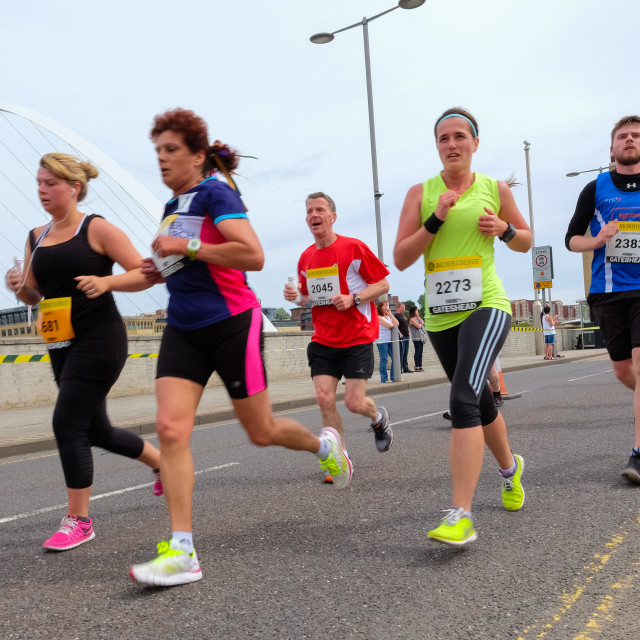 """Great North 10k 2015 d"" stock image"