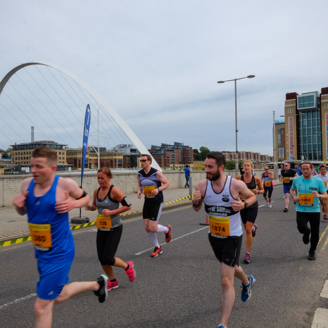 """Great North 10k 2015 a"" stock image"