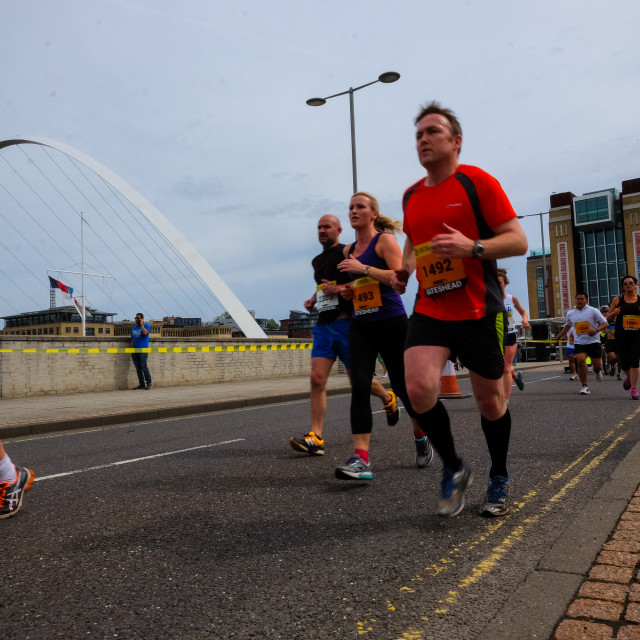 """Great North 10k 2015 c"" stock image"