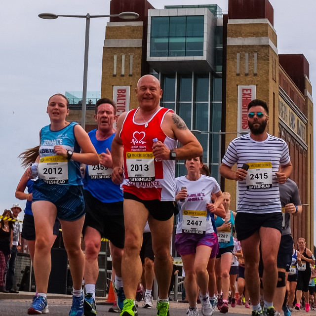 """Great North 10k 2015 k"" stock image"