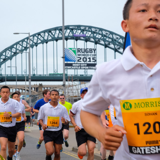 """Great North 10k 2015 m"" stock image"