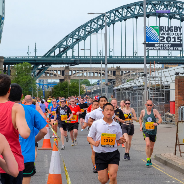 """Great North 10k 2015 n"" stock image"