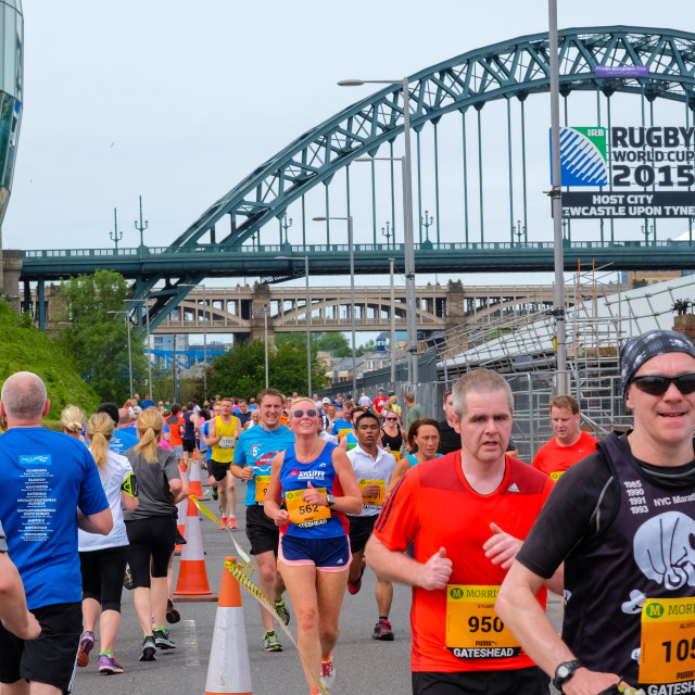 """Great North 10k 2015 o"" stock image"