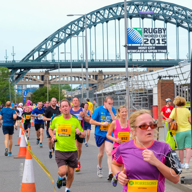 """Great North 10k 2015 p"" stock image"
