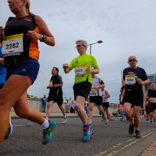 """Great North 10k 2015 i"" stock image"