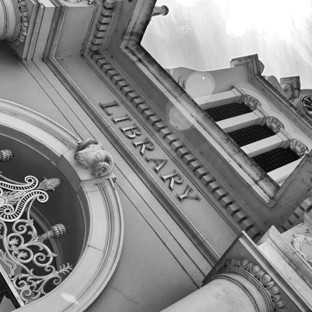 """The Library, Saffron Walden, Cambridgeshire, UK"" stock image"