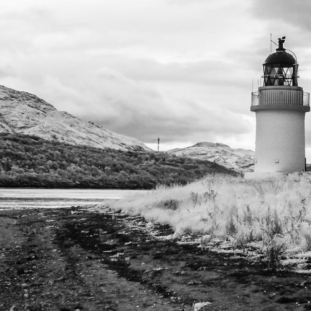 """""""The Lighthouse at Ardgour."""" stock image"""