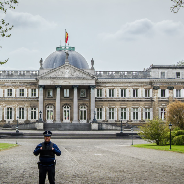 """Royal Palace of Laeken"" stock image"