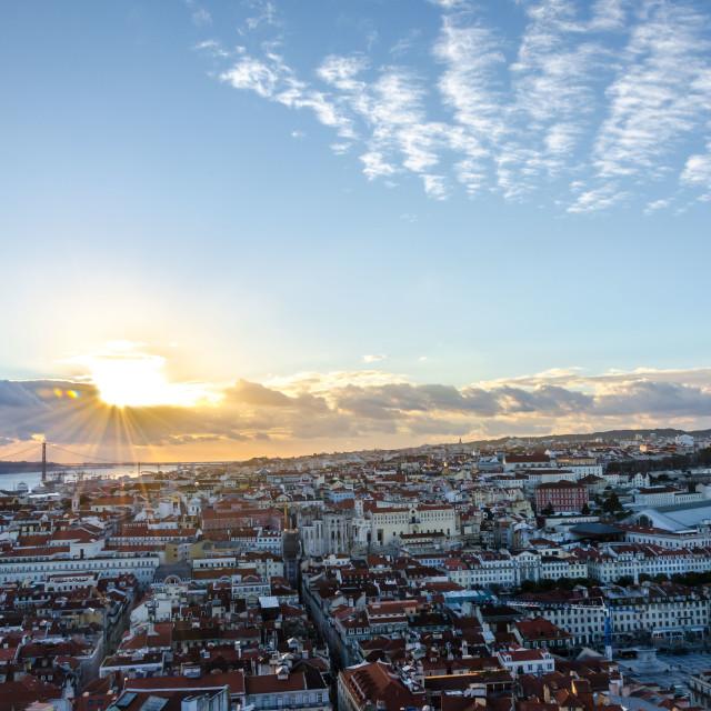 """""""Portuguese Sunset"""" stock image"""