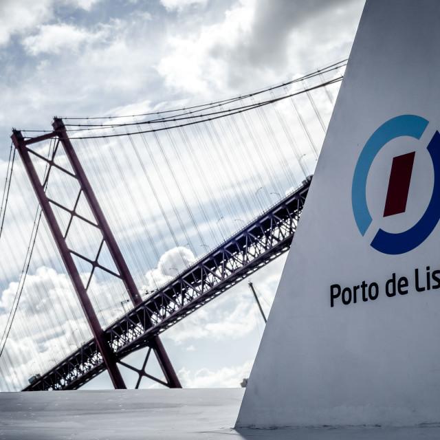 """""""Ponte 25 de Abril 1"""" stock image"""