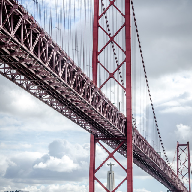 """Ponte 25 de Abril 2"" stock image"