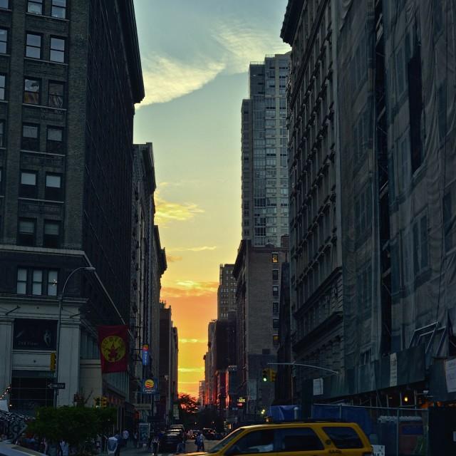 """Sunset in New York"" stock image"