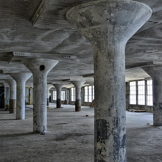 """interior of Brooklyn Army Terminal 2"" stock image"