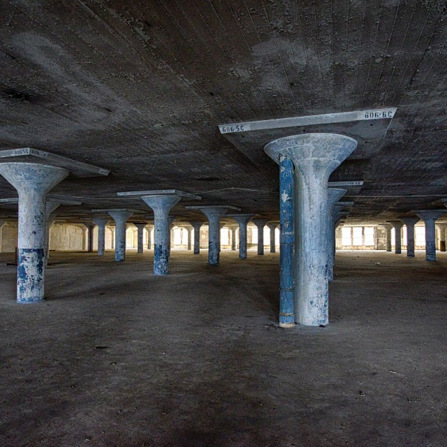 """interior of Brooklyn Army Terminal 1"" stock image"