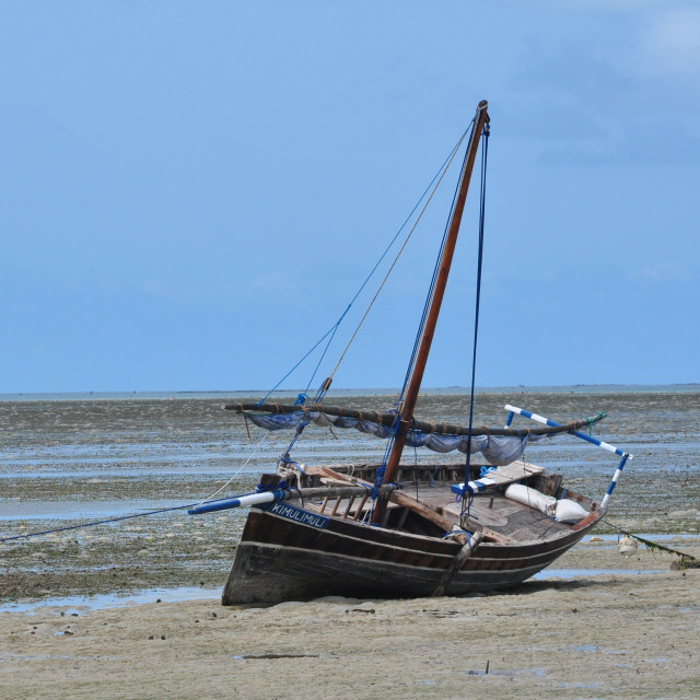 """Traditional Tanzania Fishing Boat"" stock image"