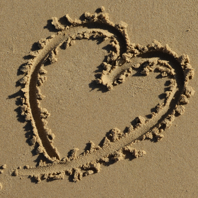 """Heart On The Beach"" stock image"