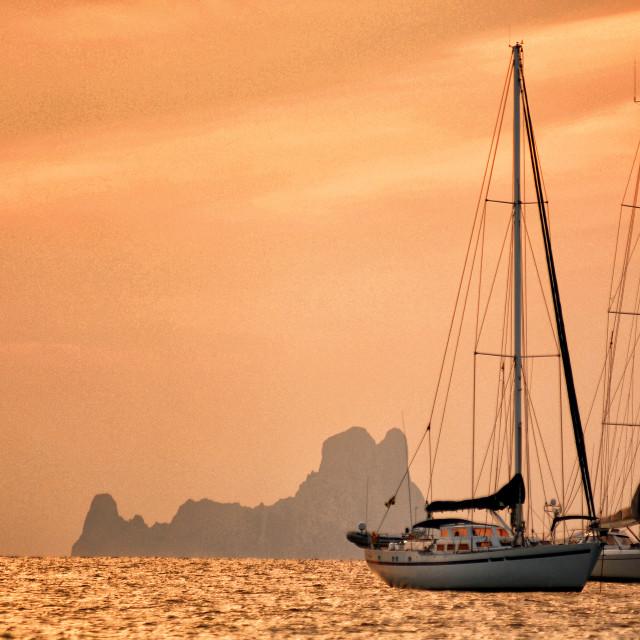 """""""Sunset Emotions in Ibiza"""" stock image"""