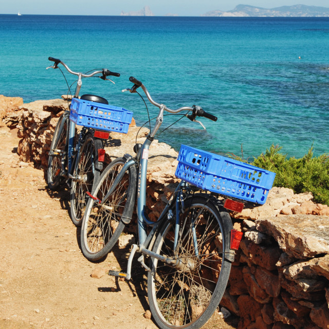 """Formentera bikes"" stock image"