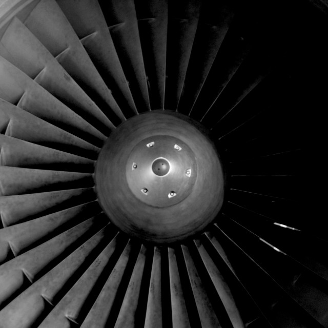 """Airplane Turbine"" stock image"