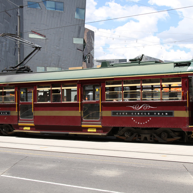 """Melbourne City Tram"" stock image"