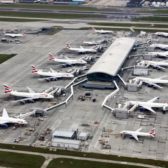 """Heathrow Terminal 5"" stock image"