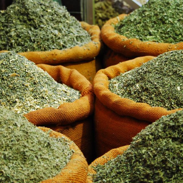 """Green mint tea"" stock image"
