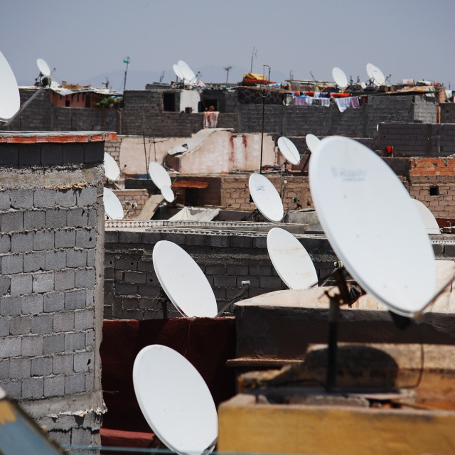 """Satellite dishes"" stock image"