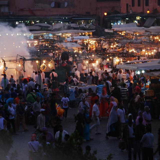 """""""Jemaa el fna square"""" stock image"""