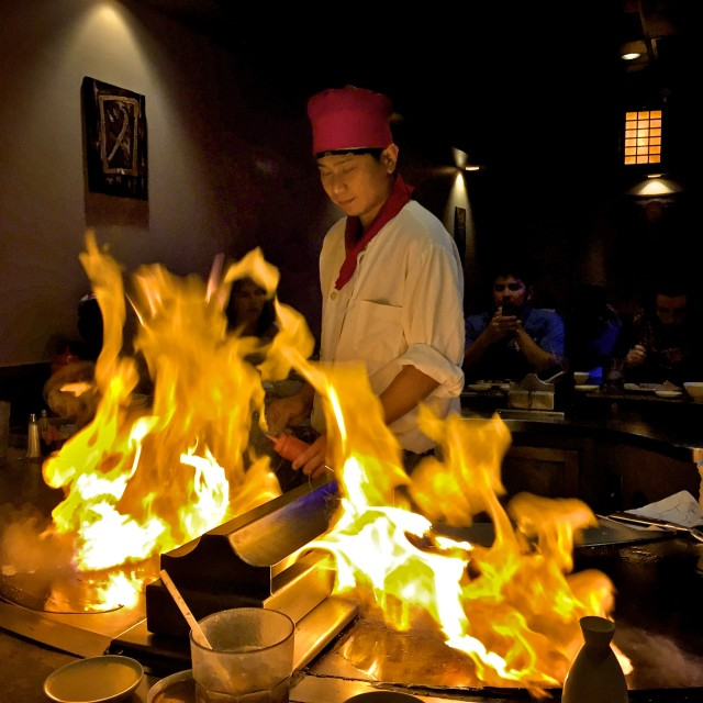 """Teppanyaki Chef"" stock image"