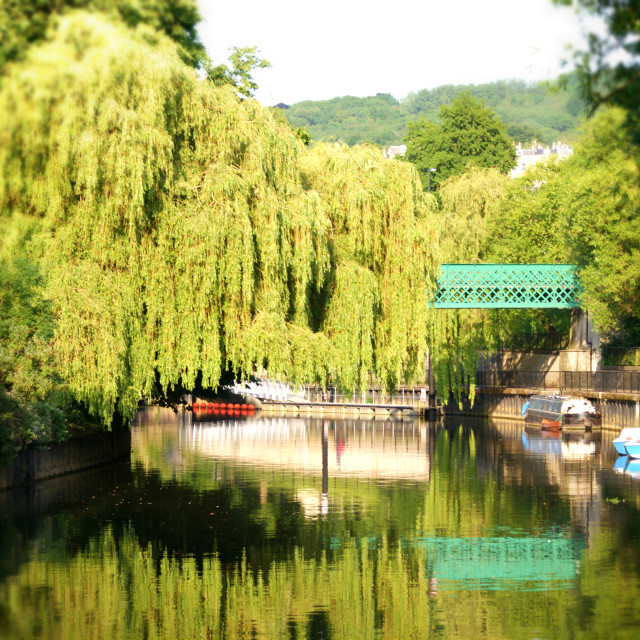 """The River Avon at Bath"" stock image"