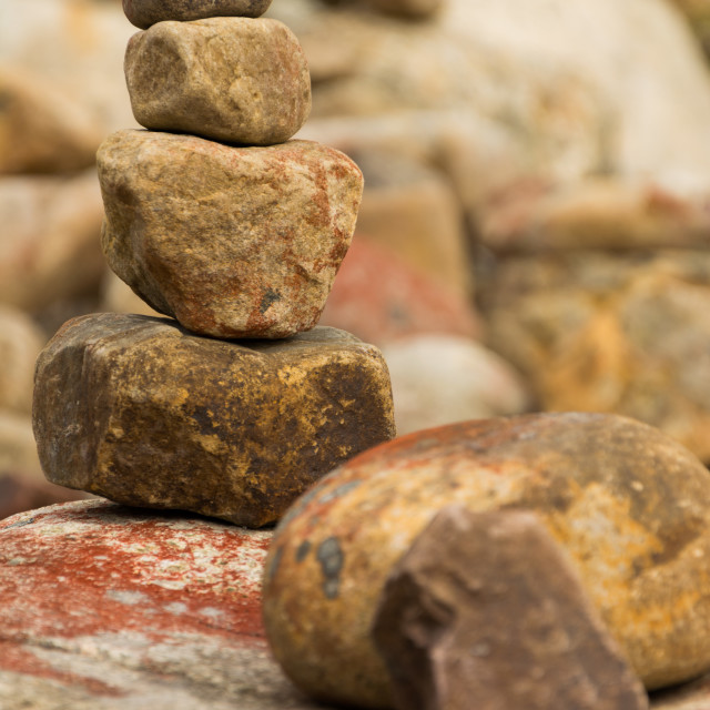 """Stacked Stones"" stock image"