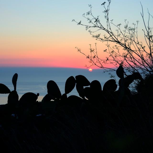 """Pantelleria sunset"" stock image"