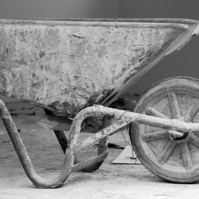 """Old Wheelbarrow"" stock image"