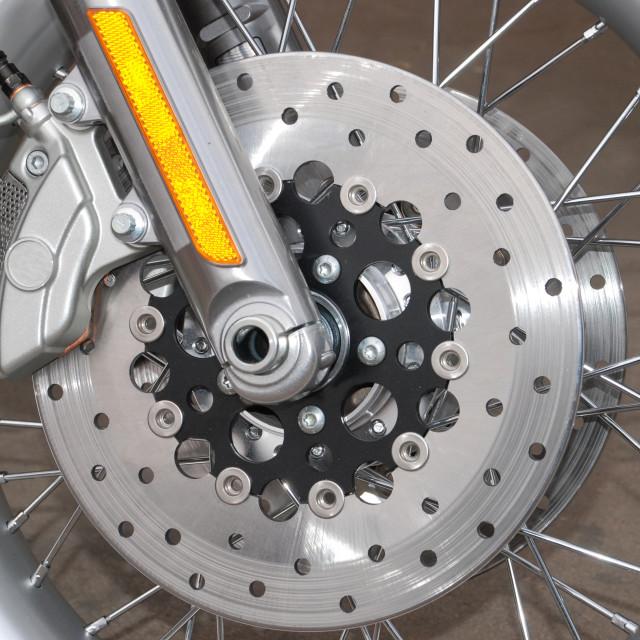 """Motorbike Wheel"" stock image"