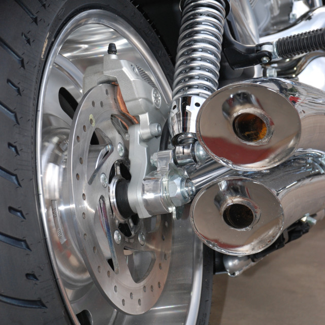 """""""Motorbike from rear"""" stock image"""
