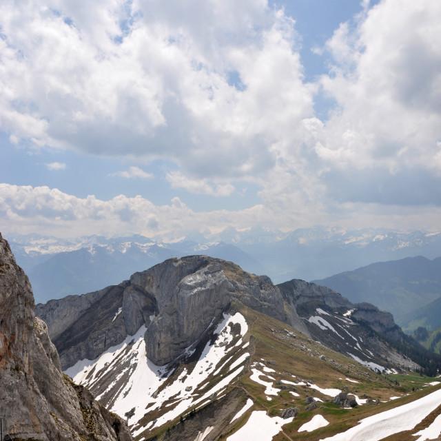 """""""Alpine View"""" stock image"""