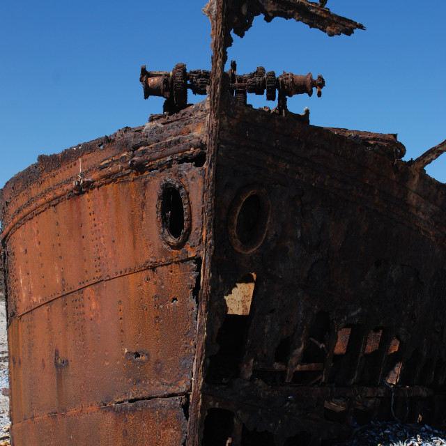 """""""Rusted Wreck"""" stock image"""